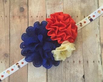 Princess Flower Headband, Flower Headband