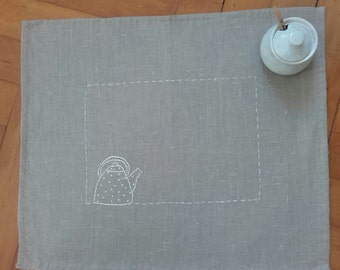 Breakfast linen placemat