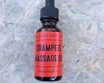 Massage Oils-PMS Relief -Organic Menstraul Cramp Oil - Theraprutic Crampease Massage Oil - Wombcare Cramp Oil - CrampEze Oil -1oz