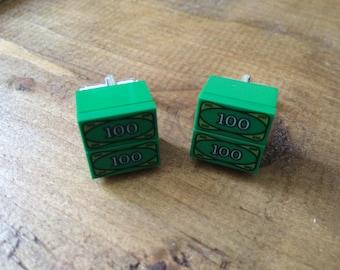Lego Cufflinks, Lego Dollar Bills