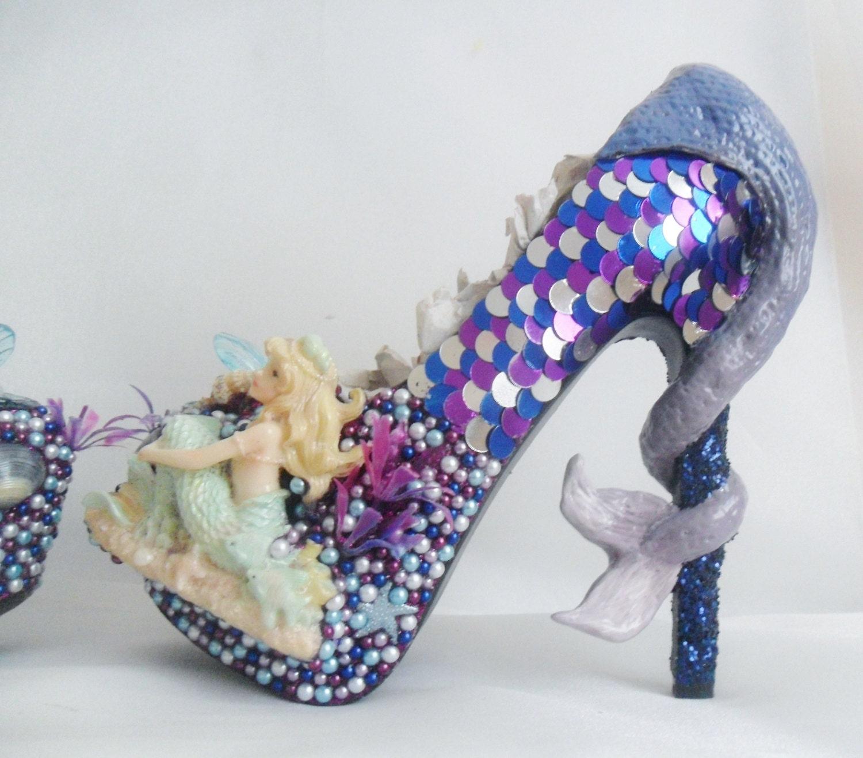 Purple And White Heels