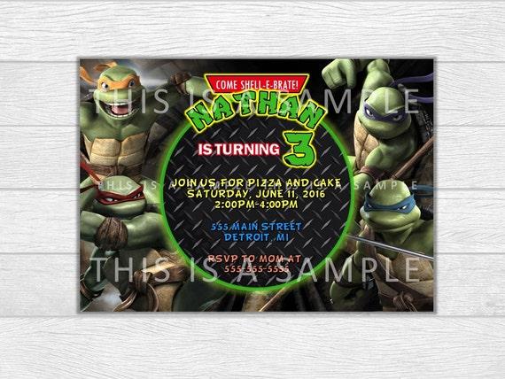 Ninja Turtles invitation, Ninja Turtles birthday, TMNT invite, birthday invitation, birthday invite, printable invitation, digital download