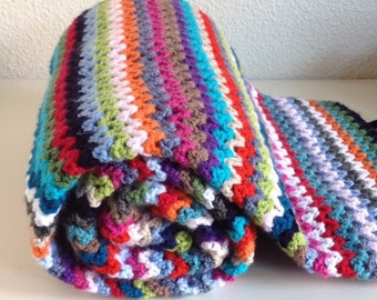 Blanket in bright colors