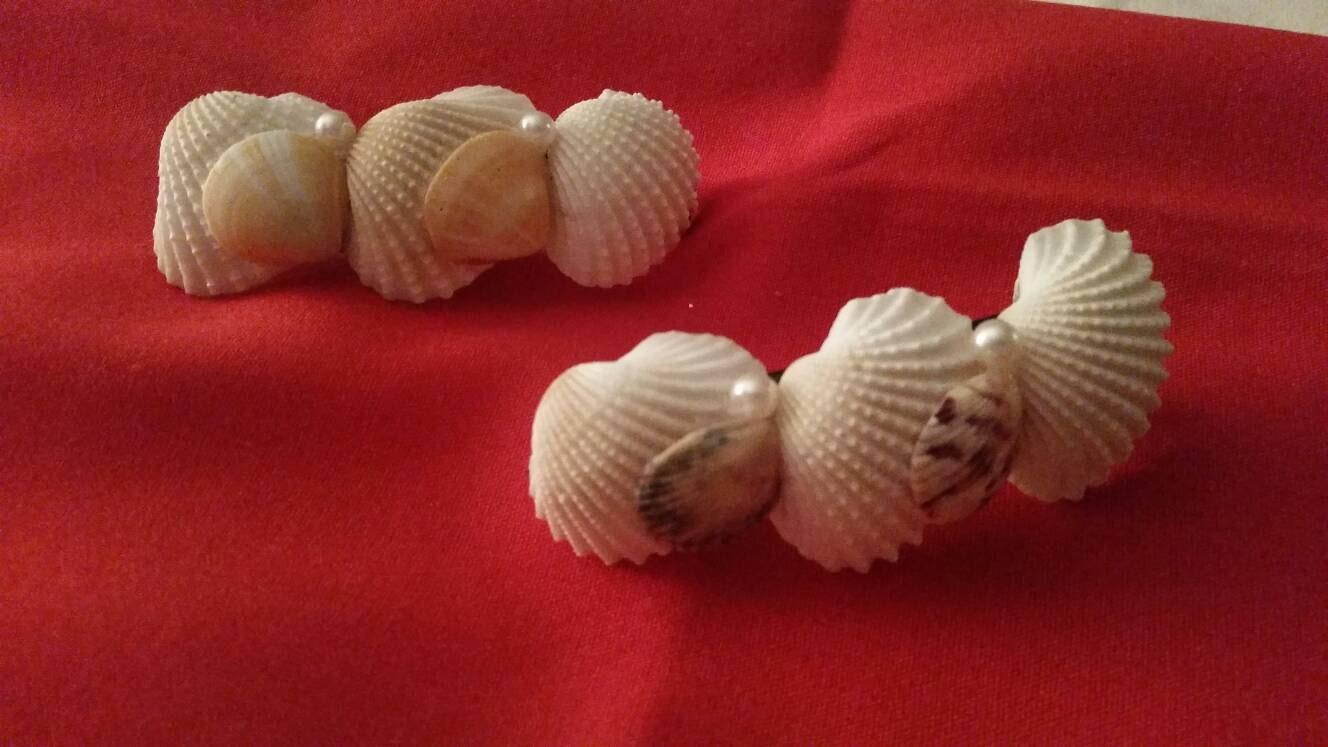 Seashell hair clip coastal clip shell hair clip hair for Seashells for hair