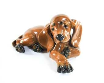 Vintage Rosenthal Theodor Karner Brown Puppy #1109