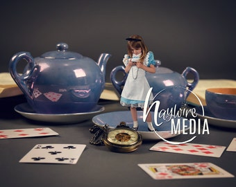 Magical Child Fairytale Enchanted Alice in Wonderland Digital Photo Backdrop Background for Photographers - Instant Download