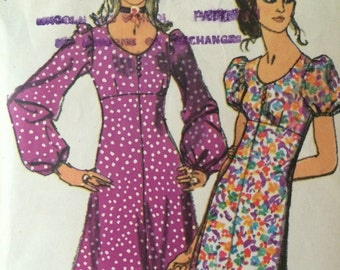 1970's Empire Waist Dress Simplicity 9446