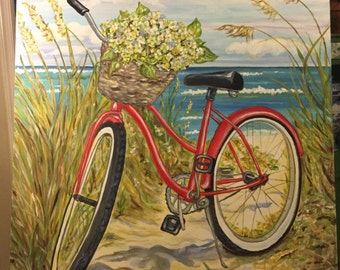 LIttle Red Beach Bike  measures 36 x 48