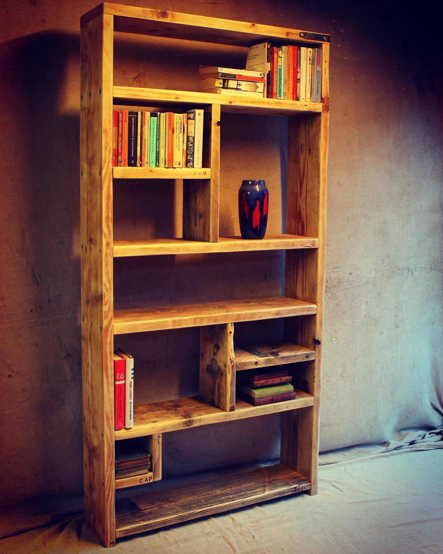 Reclaimed wood bookcases handmade bespoke by oldmanandmagpie