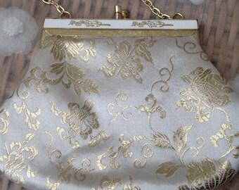 Beautiful Gold Brocade 1960's Evening Bag