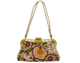 VALENTINO GARAVANI * Gorgeous vintage embroidered and jewelled purse clutch bag