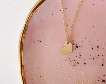 Tiny Gold Heart Necklace, Necklace Heart, Delicate Jewelry, Dainty Necklace, Necklace Gold, Layering Pieces, Layer Necklace Gold Heart, Gift