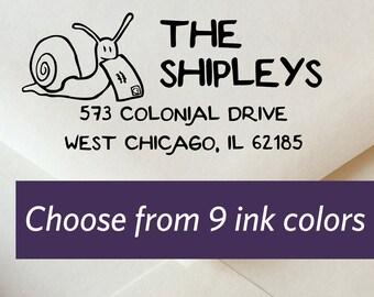 Snail Mail Return Address Stamp Custom Wedding Invitation Self Inking Weve Moved