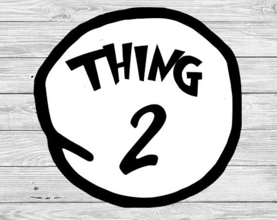 Witty image for thing 1 shirt printable