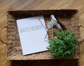 8.5x11 Grace Abounds Devotional Journal Digital Download
