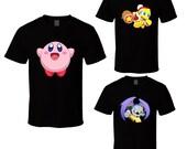 Kirby - Choose a Character - Black T-Shirt