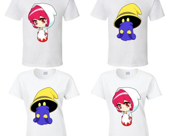 Final Fantasy - Black Mage or White Mage - Choose a Character - Cute White T-Shirt