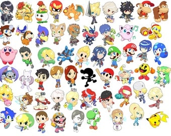 Choose from all 58 Characters! - Super Smash Bros. Art Magnets