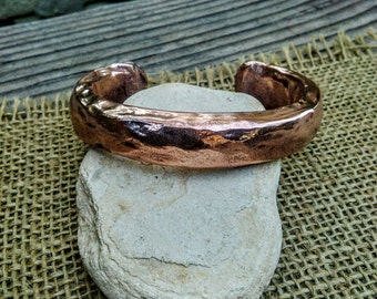 Heavy Copper Cuff Bracelet. 10mm x 14mm Wide and Thick.72g.