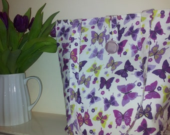 Lovely Spring/Summer butterfly tote bag
