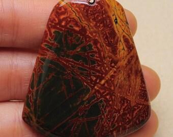 Natural Picasso Jasper  pendant  bead  ( #J1498)