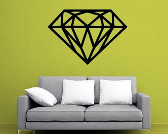 Diamond Die-Cut Vinyl Decal Wall Sticker