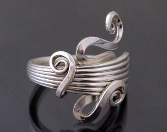 """Vintage solid silver """"Esgargot"""" fork ring *unique* Hallmarked Sheffield 1912"""