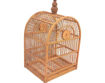 Arched Bird Cage, Wooden Decorative Bird Cage