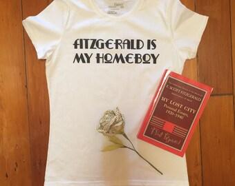 F. Scott Fitzgerald tee 'Fitzgerald is my Homeboy'