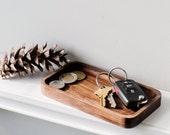 Walnut Mini Catchall Valet Tray