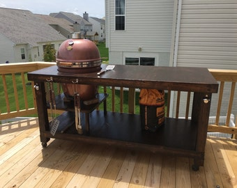 Kamado grill table (big green egg, bision grill, grill dome...)