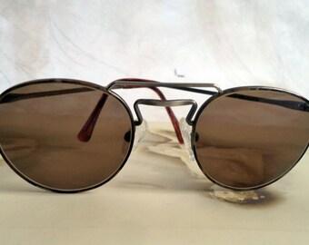 Vintage BHPC round lennon eyeglasses sunglasses, Gunmetal Engraved Glasses, Round eyeglasses, Lennon Sunglasses, Vintage Glasses, Japan