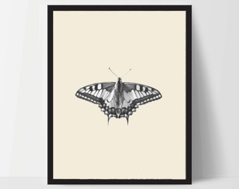 Butterfly with Yellow, Printable, Wall Art, Artwork, Home Decor, Modern Print, Print Art, Abstract Art, Color, Decorations, Digital Print