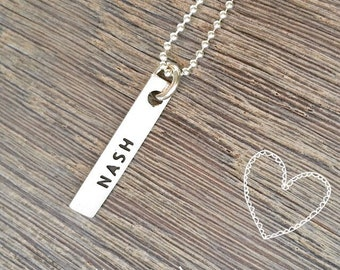 Pure Silver Name Tag
