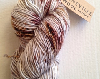 Mineville Wool Project single ply mohair yarn.