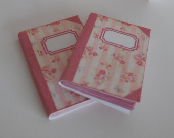 1:12 DOLLHOUSE  Notebook pink lines