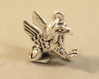 Sterling Silver 3-D GRIFFIN Charm Pendant Lion Eagle Travel Greek Fantasy Fairytale Mythology Gryphon Animal .925 Sterling Silver New my37