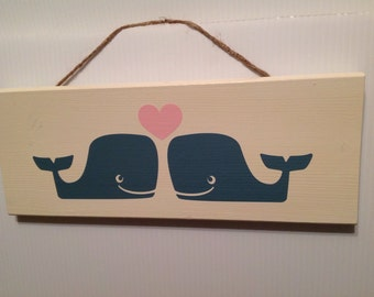 Whale Love Sign