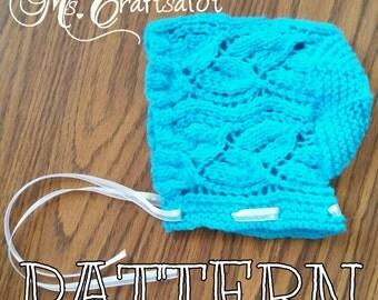 Clary Baby Bonnet Knit Pattern