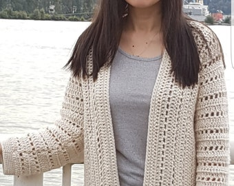 Sporty One-Piece Crochet Cardigan Pattern