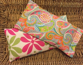2 Lavender & Flaxseed Eye Pillows - Great for Yoga, Gifts, or to Resell! Lavender Eye Pillow Aromatherapy