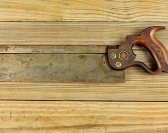 Vintage Henry Disston Back Saw -1888-1890's