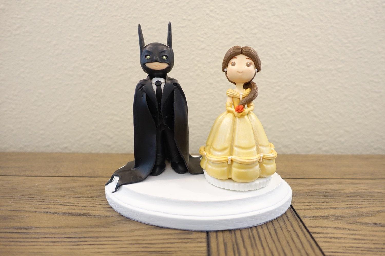 Cake Toppers Disney Uk : Belle Cake Topper Disney Wedding Cake Topper Batman Cake