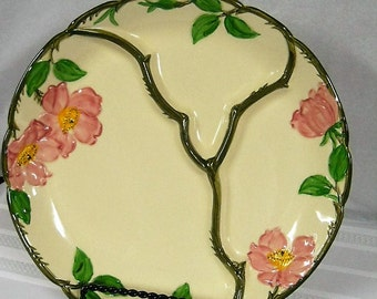 "Vintage Franciscan Pottery 11"" Grill Plates Desert Rose McBean Marked.. 3 Available"
