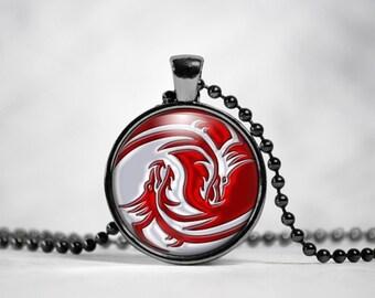 Yin Yang Dragons Pendant Necklace Yin And Yang Chinese philosophy Mens Womens