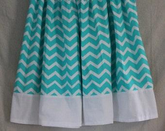 Modest Blue Chevron Skirt