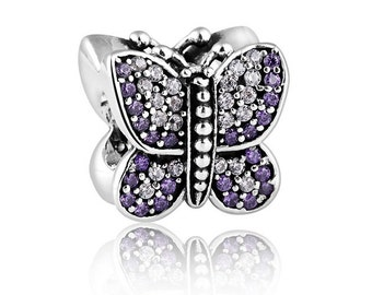 Sterling Silver Butterfly THREADED