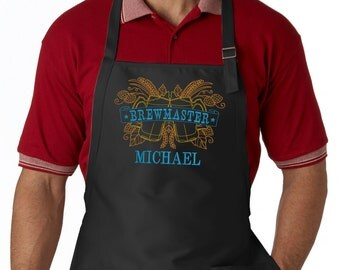 Personalized Brewmaster Embroidered Apron