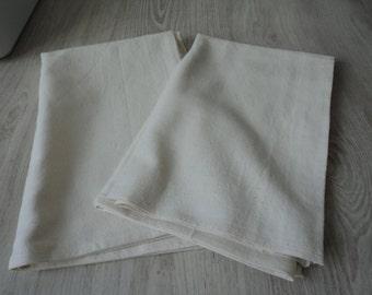 French vintage set of two metis linen tea towel / torchon  (00700/1/2/3)