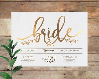 emilia bridal printable bridal shower invitation shower invite wedding shower invitation calligraphy - Wedding Shower Invites
